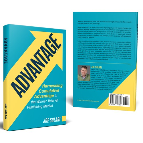 Simple, bold, and clean cover for Advantage book cover