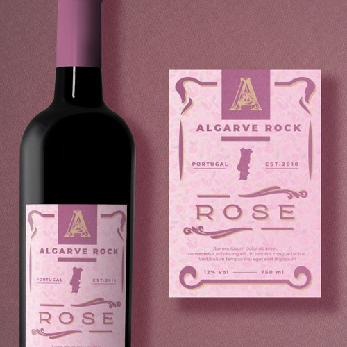 A feminine wine label