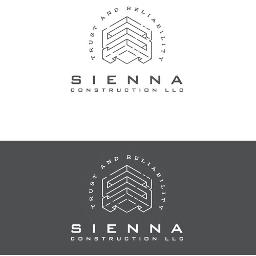 Construction company logo Sienna Construction LLC