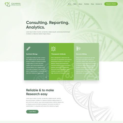 a sharp, fresh and cool site for biopharma