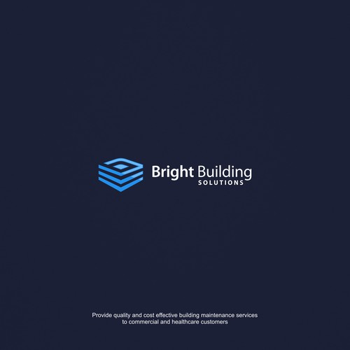 Bold logo for building maintenance services company.