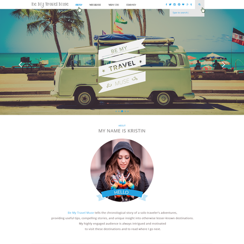 Personal Brand Identity for a Leading Female Travel Blog