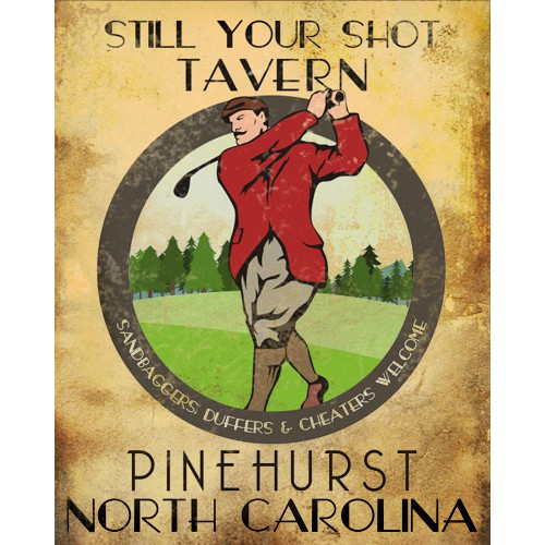 Vintage Golf Tavern Sign