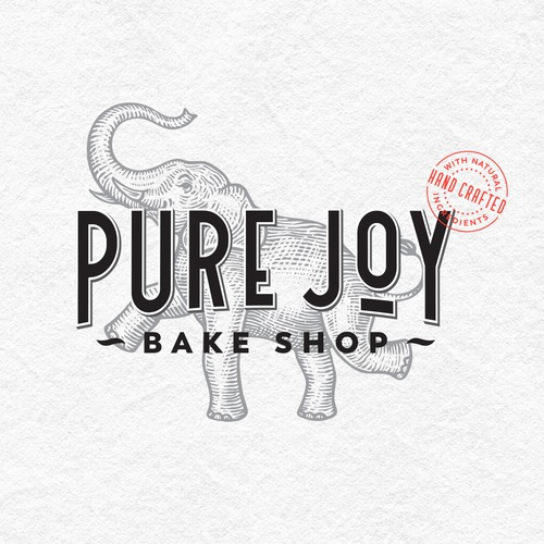 Logo and labels for Bake Shop