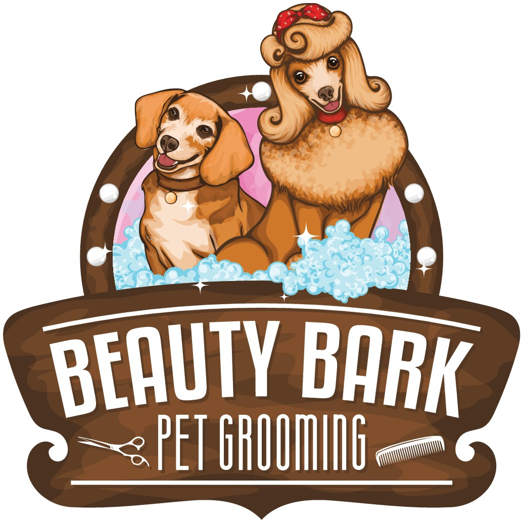 Coolest 1950's pet grooming salon logo