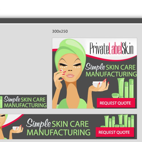 Banner ads for skincare company