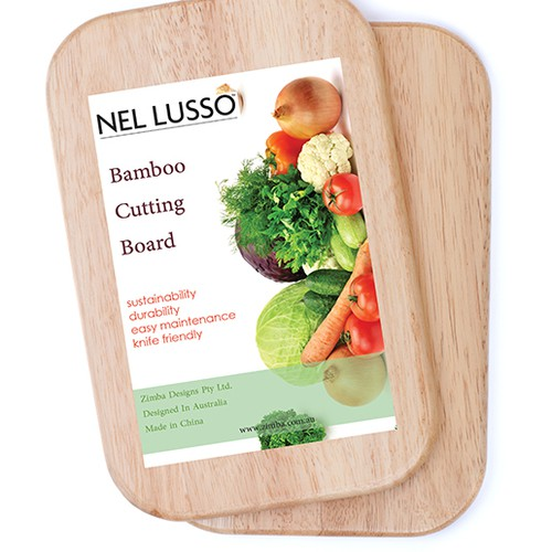 Design a creative Label for Bamboo cutting boards