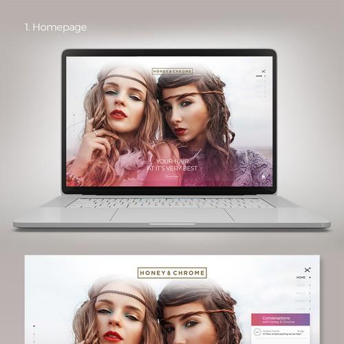 Honey & Chrome Website Concept