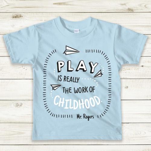 Kids' slogan tee - Fun typography + illustration project