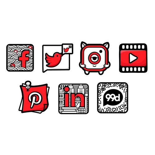 Social icons concept
