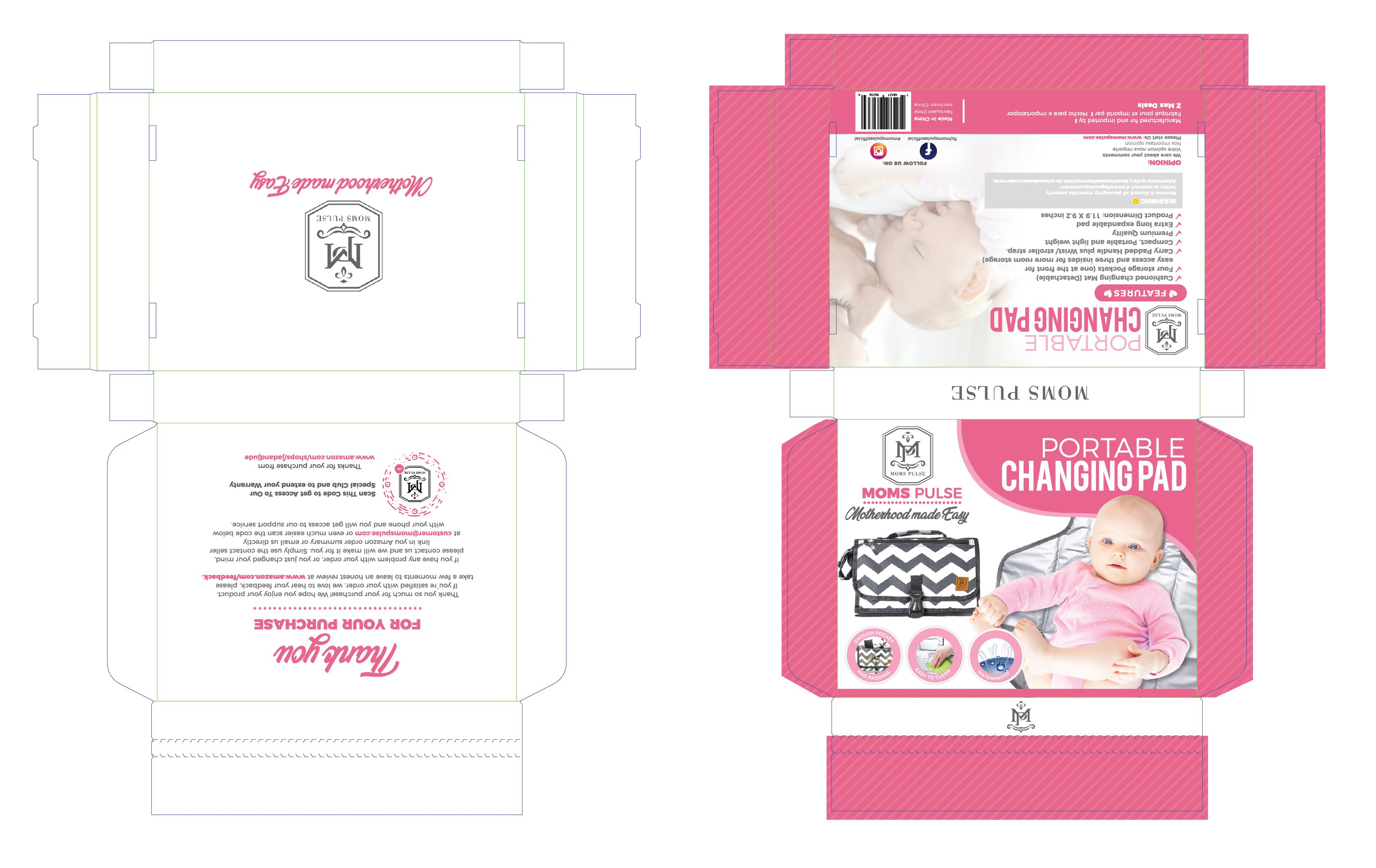 Portable Changing Pad Packaging