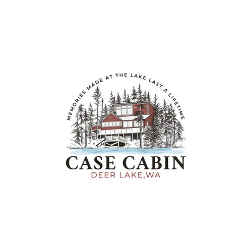 Logo for cabin on lake