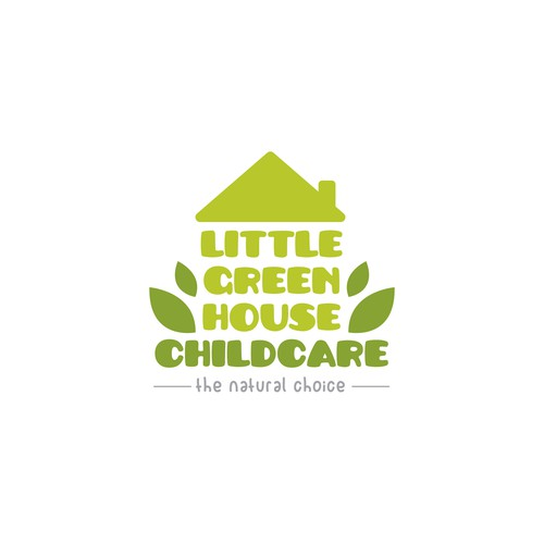 Logo concept for Little Green House Childcare