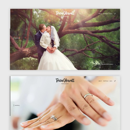 Minimalistic wordpress photography website design