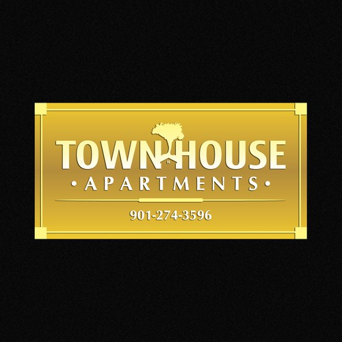 Help Town House Apartments with a new signage