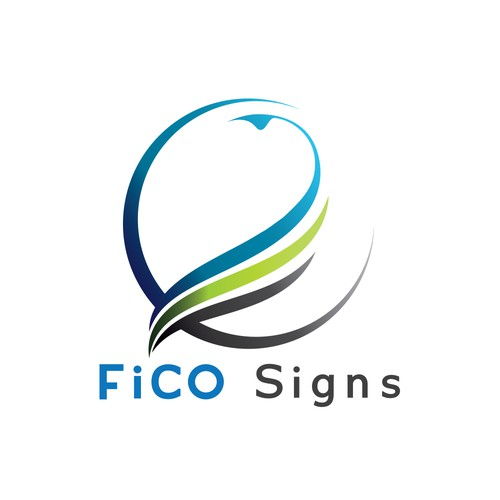 abstract logo concept FiCO Sign