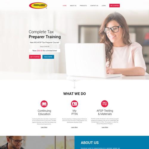 Facelift for online Tax training program