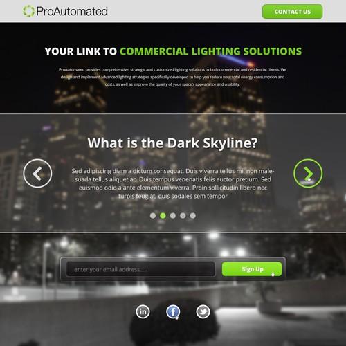 Help save energy - Create a dark skyline WebPage
