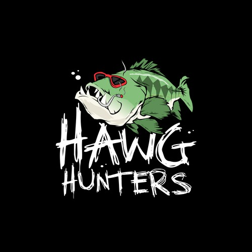 Badass logo for fishing team