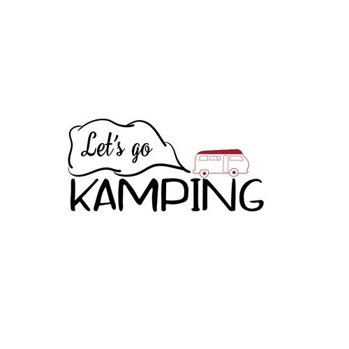 Playful logo proposal for a camping blog
