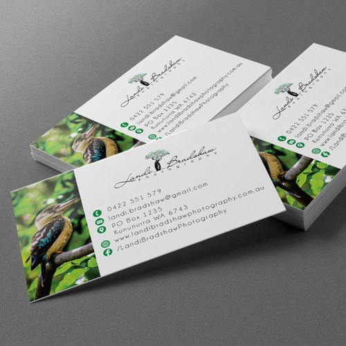 photographer businesscard design