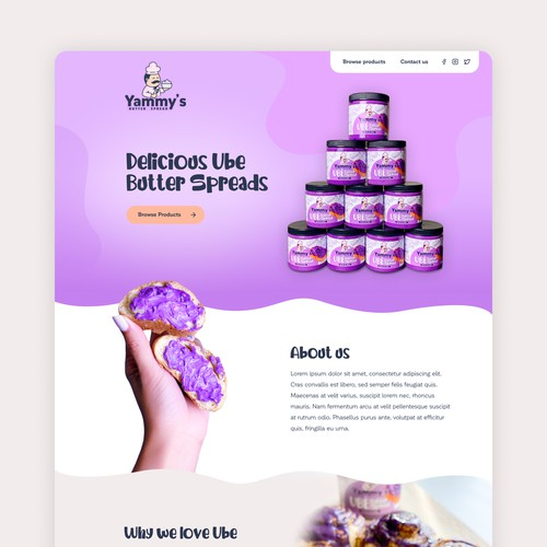 A fun Marketing Site for Specialty Food Product