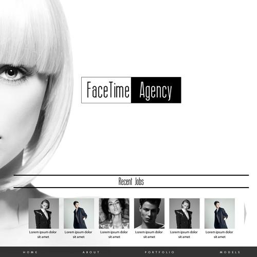 Website Design For Modeling Agency #FaceTimeAgency