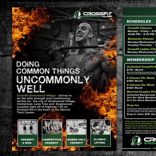 postcard, flyer or print for CrossFit Greenwood Village