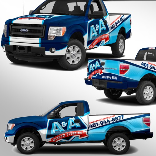 Create a powerful truck design for largest window cleaning company in Northeast
