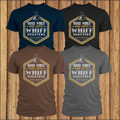 Design a fun, modern t-shirt for Whiff Coffee Roasters