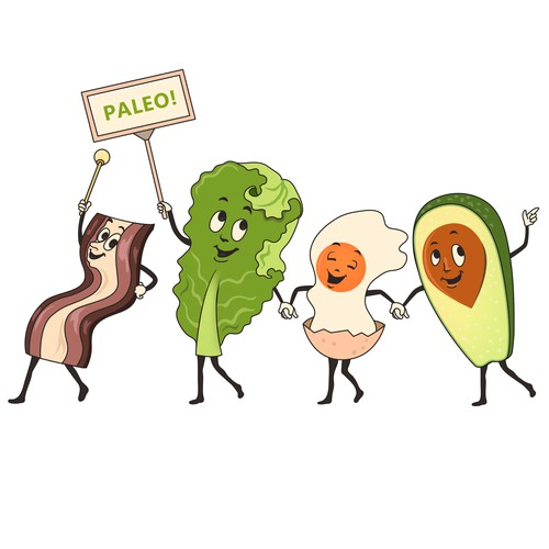 "Paleo! A Tshirt Parody of the Vintage ""Let's go out to the Lobby.."" Commercial"