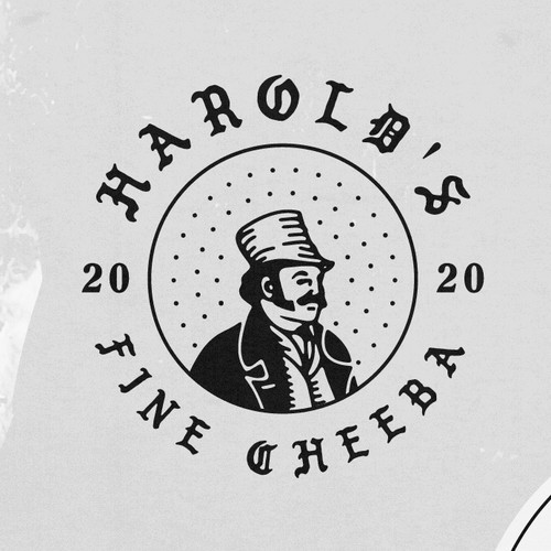 Hand drawing Logo concept Harolds Fine Chebba