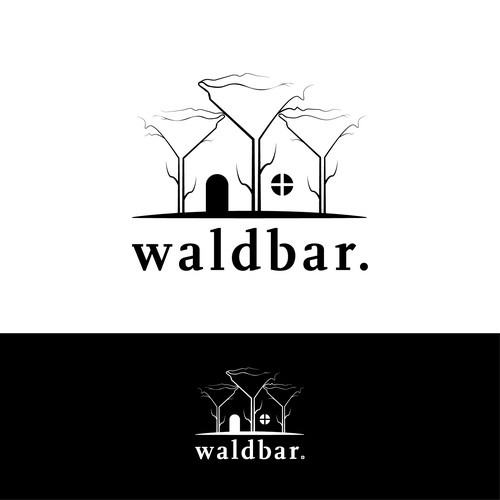 Logo cocept for a bar in the woods