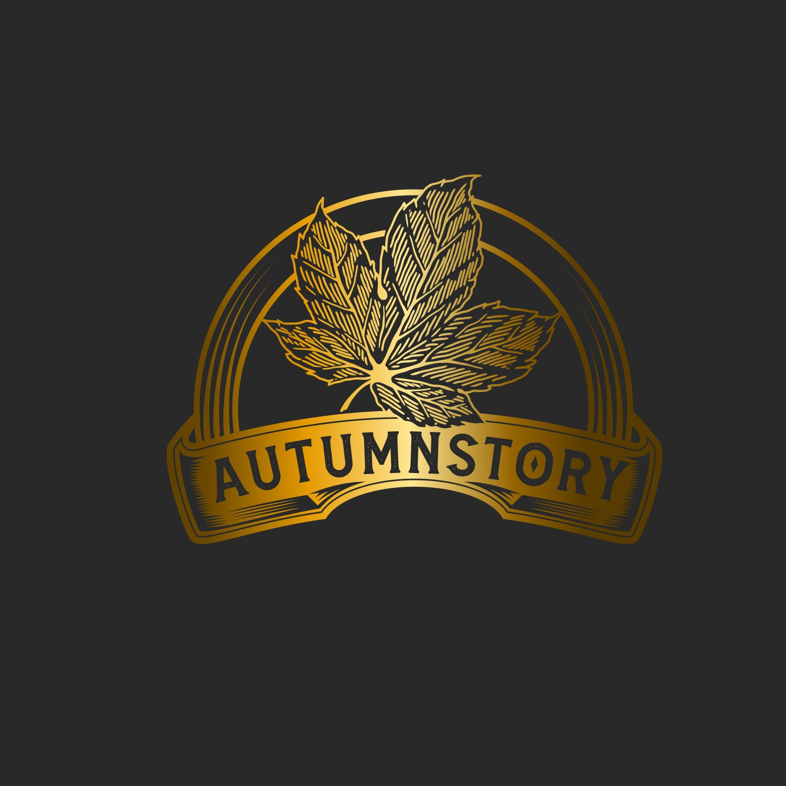 A high-end classic logo about AutumnStory