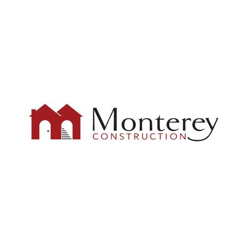 Creative logo for Monterey Construction
