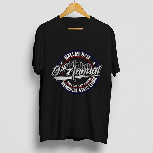 T-shirt design concept for a Memorial occasion