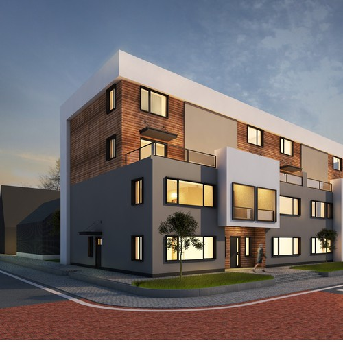 Townhouse facade design