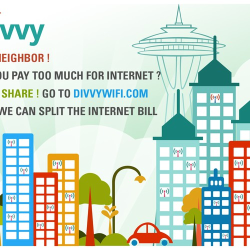Create Engaging and Memorable Print Flier for WiFi Sharing Startup