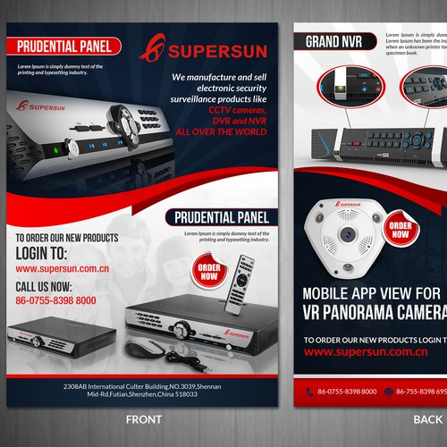 Design a eye-catching flyer design for CCTV Products