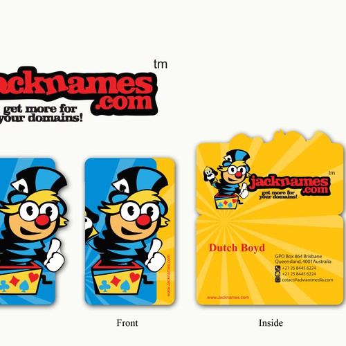 Jacknames.com Business Card Design
