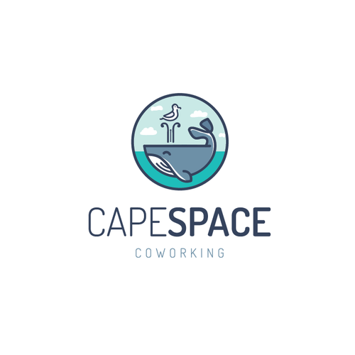 Logo proposal for a shared workspace/cowork operation on Cape Cod