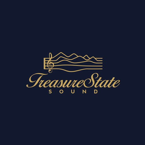 Treasure State Sound logo design