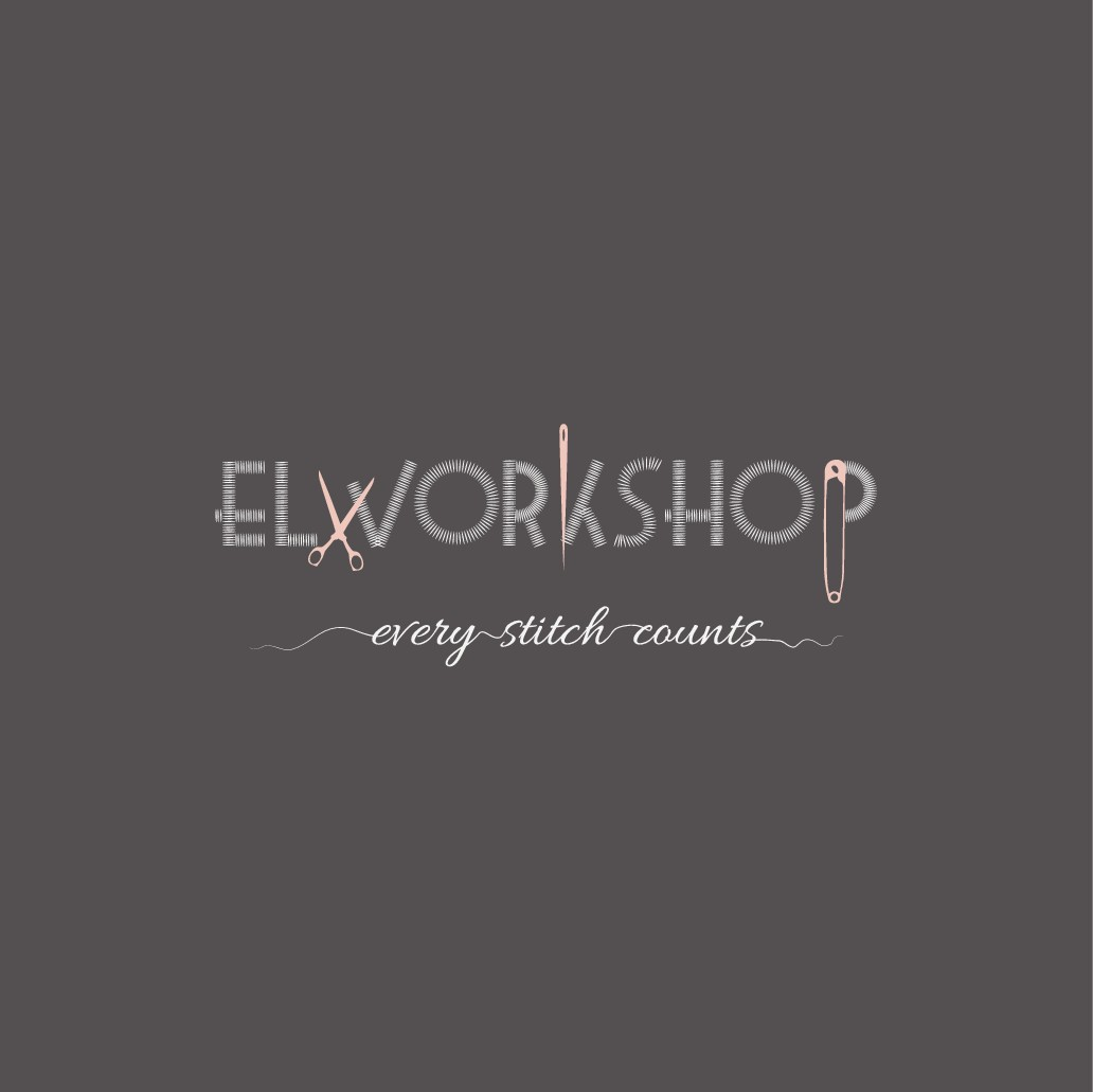 """create a quirky and creative logo for a fashion forward tailoring workshop (""""el"""" means """"the"""" in arabic)"""