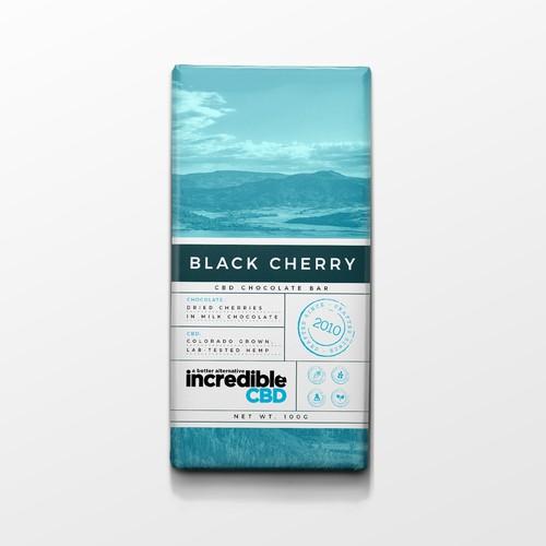 Chocolate label design
