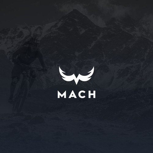(masculine) Logo for mountainbike clothing company