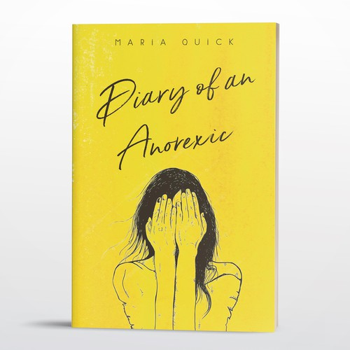 Poignant cover for a book about a woman with anorexia