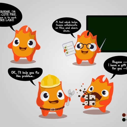 Mascot - The Little Cute Fire