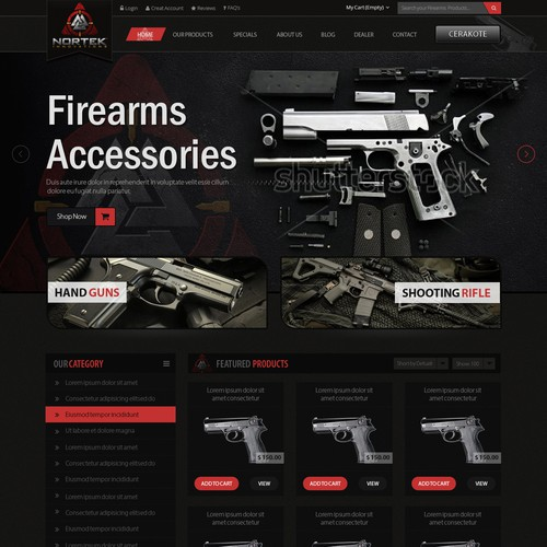 Website for Firearms Manufacturer