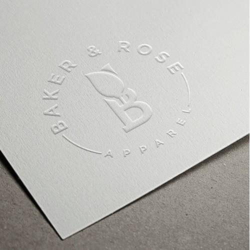An elegant and bold monogram based logo design for an apparel brand