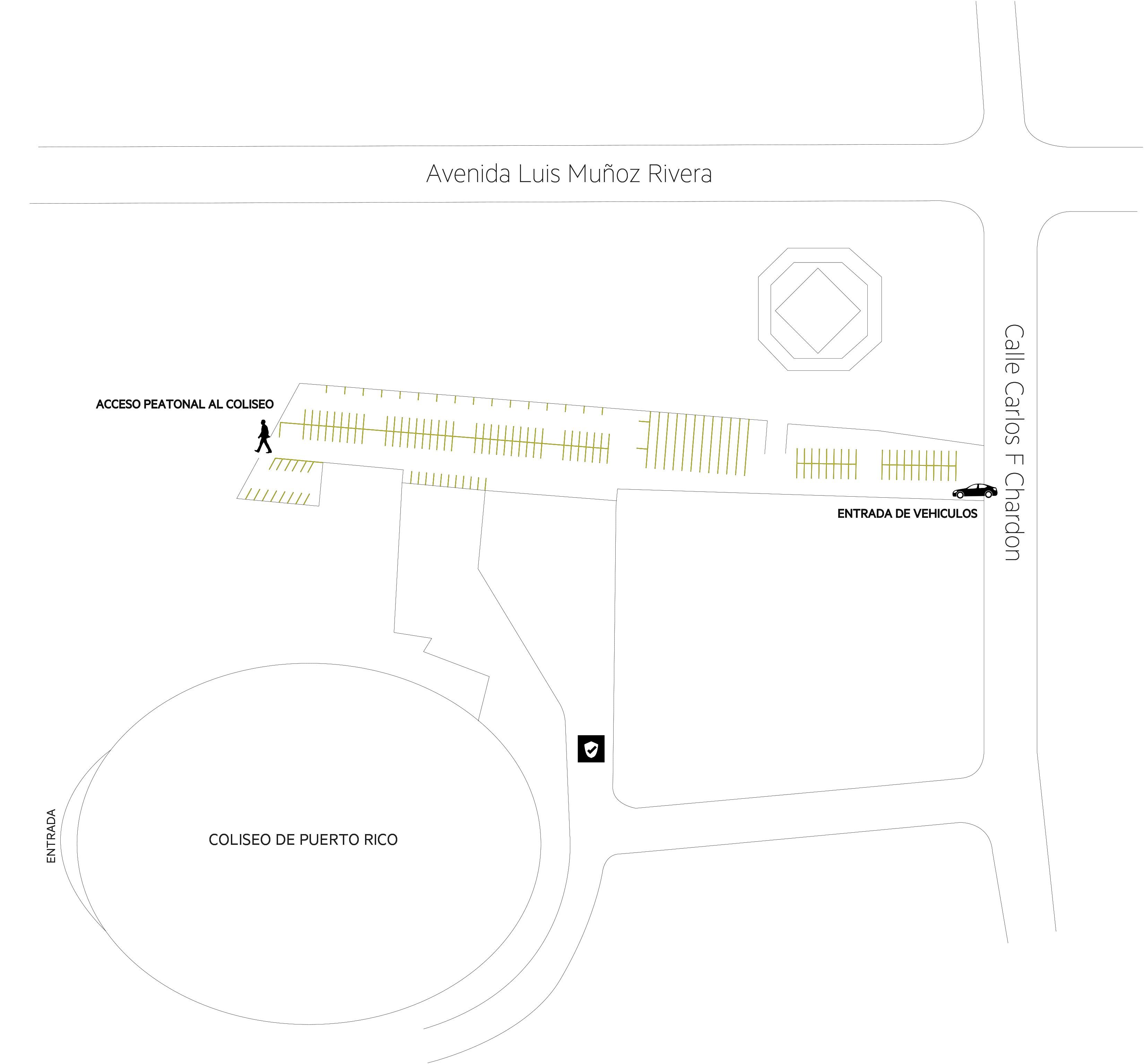 APARKAMIENTOS  Coliseo de PR Map